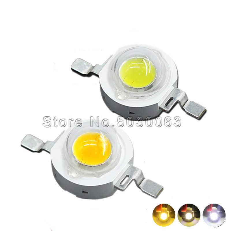 10 ピース/ロット 1 ワット SMD 自然ホワイト/ピュアホワイト/ウォームホワイト/コールドホワイト電球ランプ LED ビーズパワー白色発光ダイオード 105-120lm