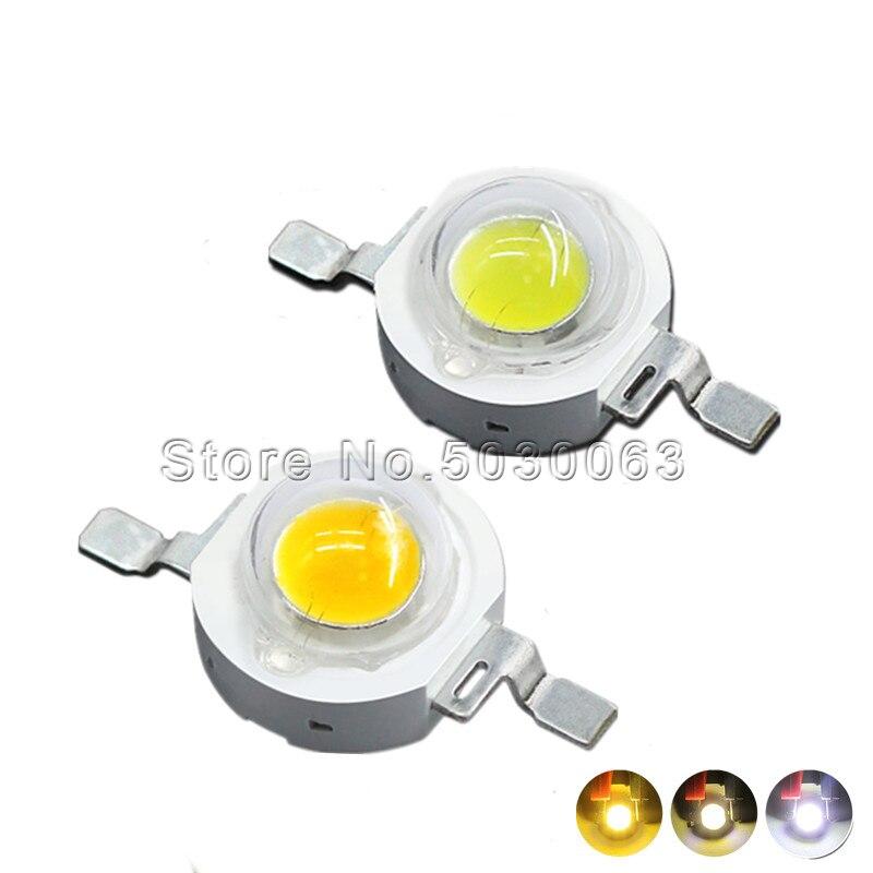 10 pçs/lote 1W natureza SMD branco/branco puro/branco Quente/frio branco lâmpada LED talão potência de luz branca emitting diode 105-120lm