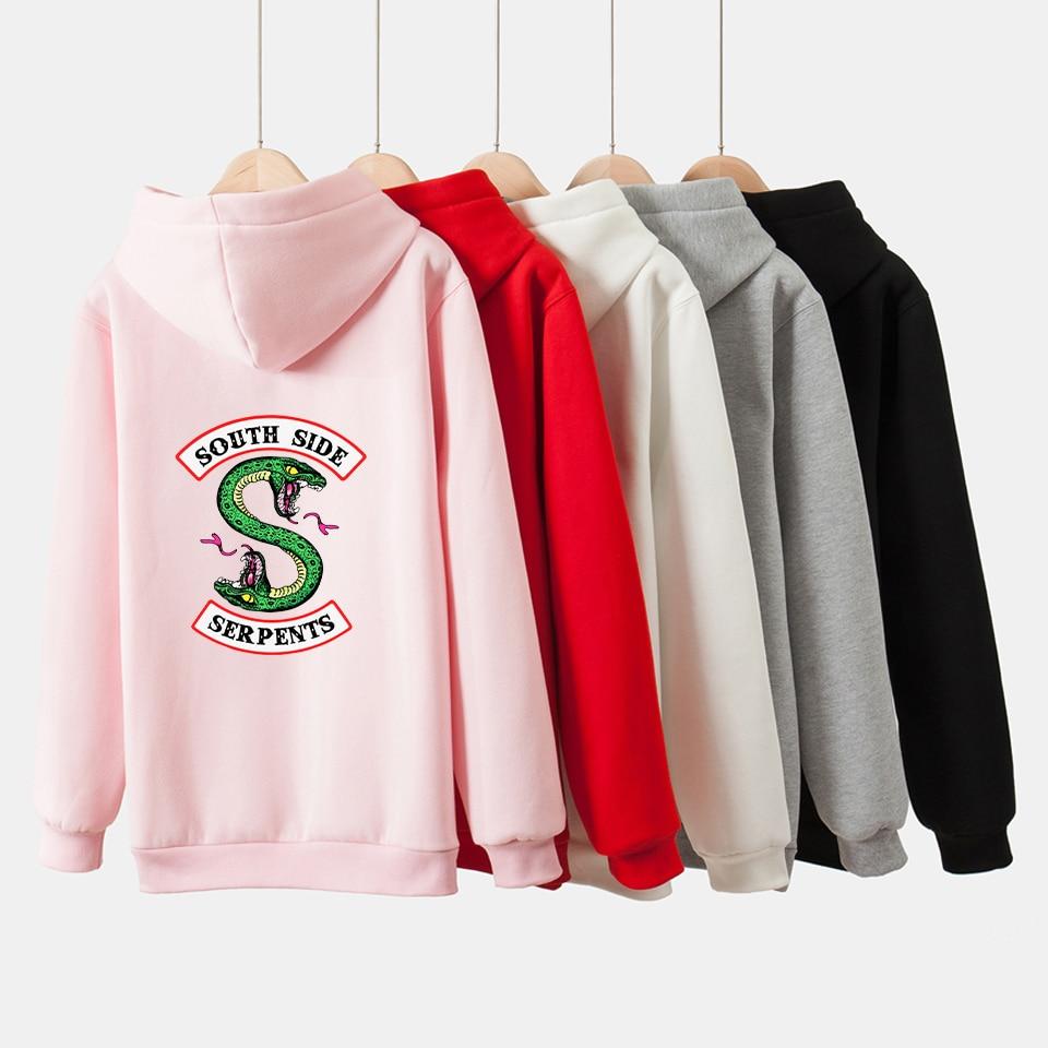 Women/Men American Riverdale Southside Serpents Hoodies Sweatshirts 2018  South Side Sweatshirt Hip-hop Popular Clothing