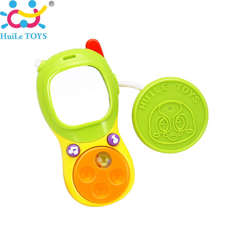 HUILE TOYS 3111A Baby Toy Mobile Telephone Unlimited Music & Lighting Cell Phone with Small Mirror for Kids Boys Girls