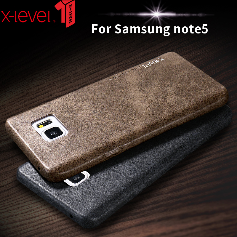 X-Level Case For Samsung Galaxy Note 5 Leather Cover For Samsung Note 5 Cases and Covers V