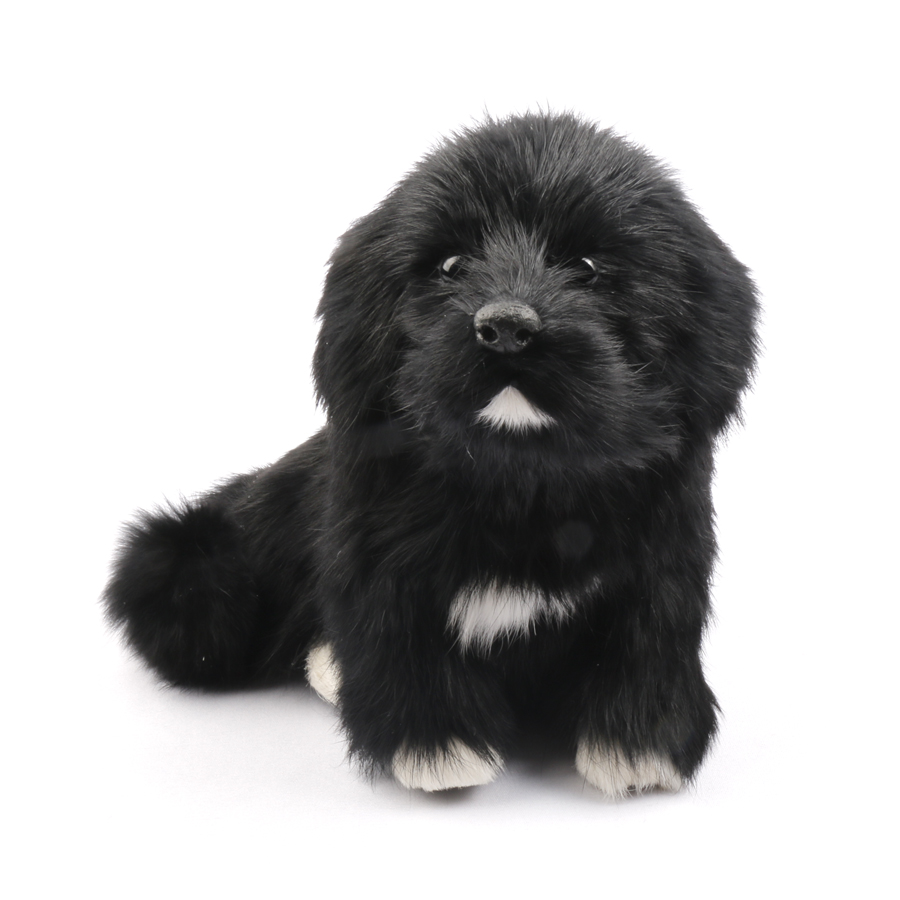 Black Small Animal Simulation Plush Dog Toy Kids Doll Puppy Brinquedo Cachorro Baby Gift Peluche Kawaii Toys For Children 80G321 push along walking toy wooden animal patterns funny kids children baby walker toys duckling dog cat development eduacational toy
