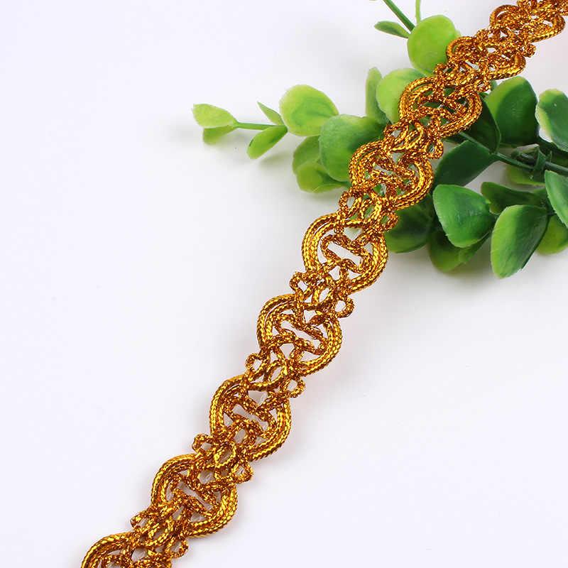 18/20 มิลลิเมตร Gold Silver Sequined ลูกไม้ริบบิ้นเย็บผ้า Trims งานแต่งงานคอสเพลย์ชุดกระโปรงตกแต่งลูกไม้ผู้ผลิต