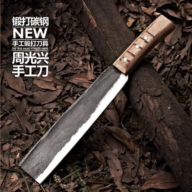 Free Shipping Handmade Forged Chef Chop Bone Knife Spring Steel Kitchen  Multi Purpose Slicing Bone