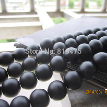4 6 8 10 12mm Matt Black Beads Glass Beads Round Fashion Jewelry accessoires Wholesale and Retail