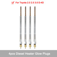 4pcs Metal Car Auto Diesel Heater Glow Plugs for Toyota 2.0 2.5 3.0 D 4D Corolla Land Cruiser Plugs Ignition System Accessories