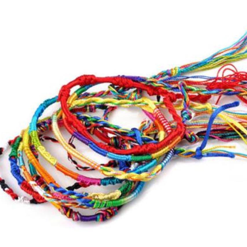 20Pcs Jewelry Lot Braid Strands Friendship Cords Handmade Bracelets Beautiful Fashion For Women Friend Gift Wholesale H0510