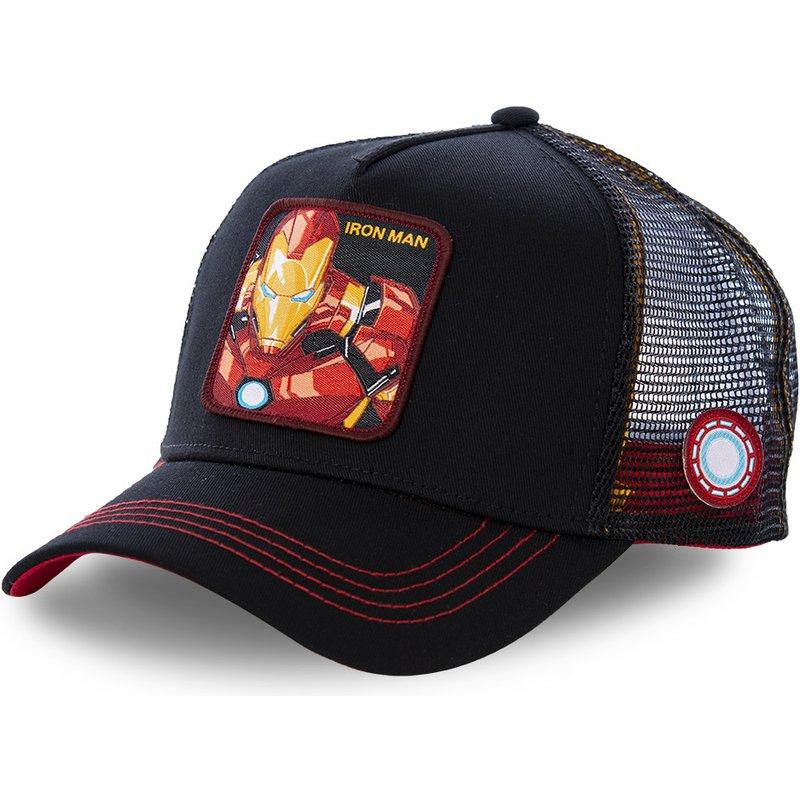 Marvel Superhero IRON MAN Snapback   Cap   Cotton   Baseball     Cap   Men Women Hip Hop Dad Hat Trucker Mesh Hat Dropshipping