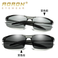 Aluminum magnesium alloy spectacle frame Polarized Sunglasses Woman and Man Driver and sports All-weather Glasses a8177