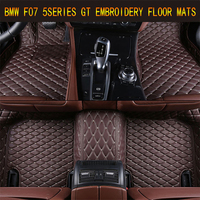 Floor Mats For BMW F07 GT 528i 535i 520i 2009 2017 Foot Carpets pad mat Step Embroidery Leather Car Interior heavy duty carpet