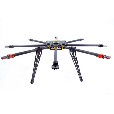 9CH 1000mm Carbon Octocopter Drone Kit With Color LED lamp And Multi Tone Buzzer Interface 9