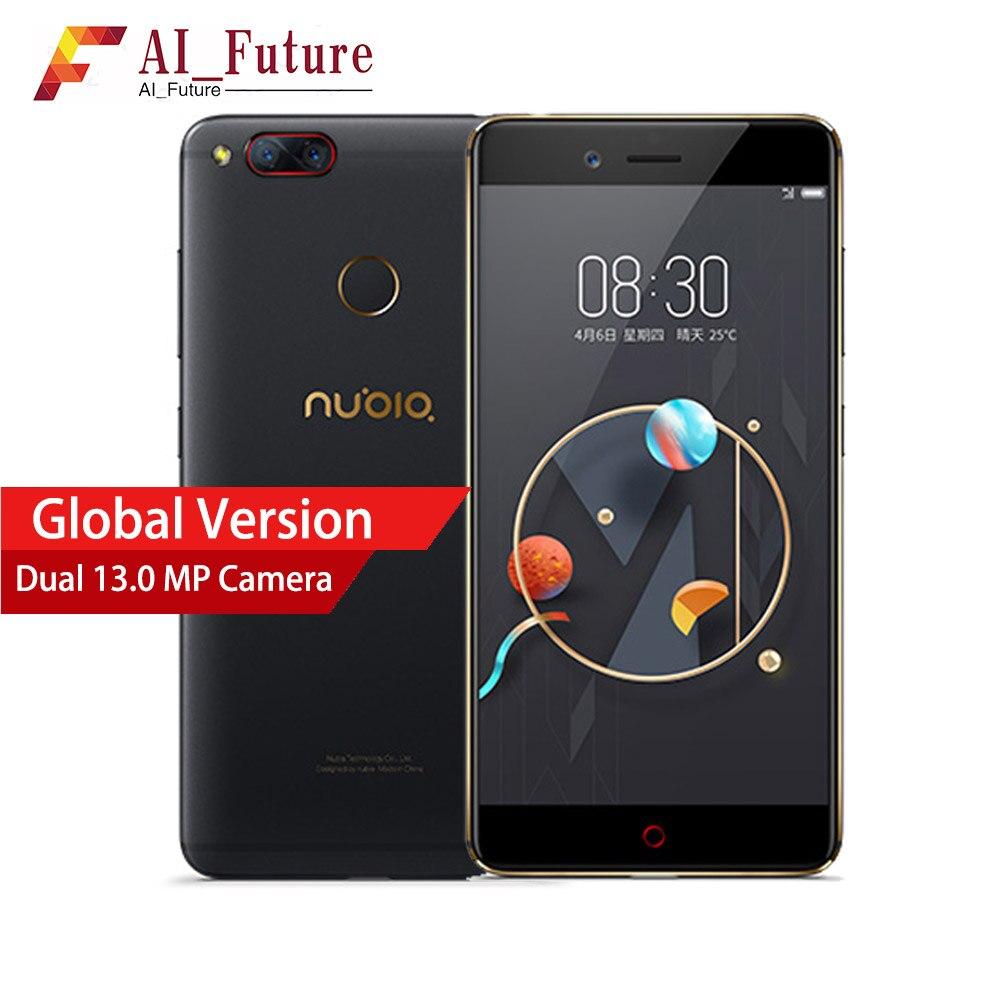 Mondiale ZTE Nubia Z17 mini Mobile téléphone 5.2 4G RAM 64G ROM Snapdragon MSM8976 Téléphone Portable Double Caméra Arrière D'empreintes Digitales Téléphone