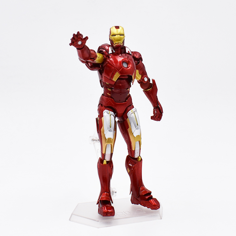 цена на The Iron Man Age Of Ultron MK42 Mark XLIII Armor Figma 217 Marv Action Anime Figures Kids Gifts Toys 16cm FREE SHIPPING