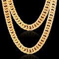 Панк Африканский Ювелирных 76 см Долго 10 мм Ширина Оптовая Позолоченный Нержавеющей Стали Box Цепи Ожерелье Для Мужчин Ювелирные Изделия
