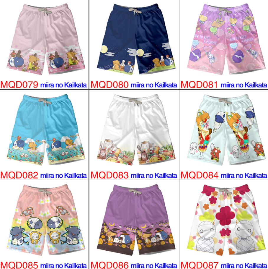 Anime How To Keep A Mummy 3D Printing Shorts Beach Shorts Summer Casual Board Shorts Men's Home Pants Modal Five Points Trousers