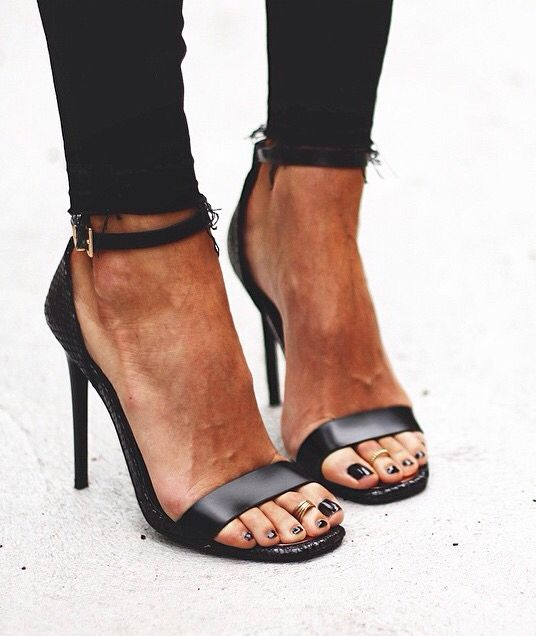 Sexy PU Leather Woman Sandals Stiletto High Heels Gladiator Buckle Strappy Open Toe Concise Fashion Summer Ladies Party Shoes rockstud toe post strappy pu sandals