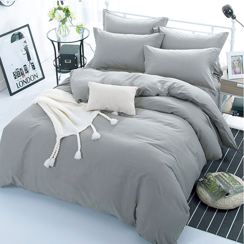 Grey Color 100% Cotton Duvet Cover For Kids Adults Bedroom Use XF642-4 (No Pillowcase)