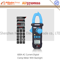 Bside ACM02 Plus 600A AC Current Digital Clamp Meter with AC/DC Voltage Resistance Capacitance Frequency Temperature Duty Cycle