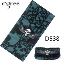 2017 Skull Bandanas Magic Scarf Sports Print Bone Multifunction Shelter Neck Face Mask Tubular Fishing Headband Cap Wrap