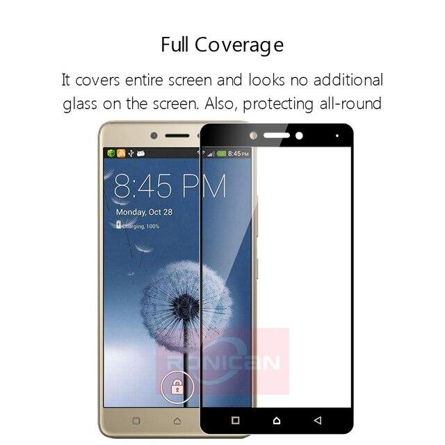 """Full Cover Tempered Glass For Lenovo K6 Note Phone Screen Protector Glass For Lenovo k6 note K53a48 5.5"""" Protective Film 2.5D 9H 5"""
