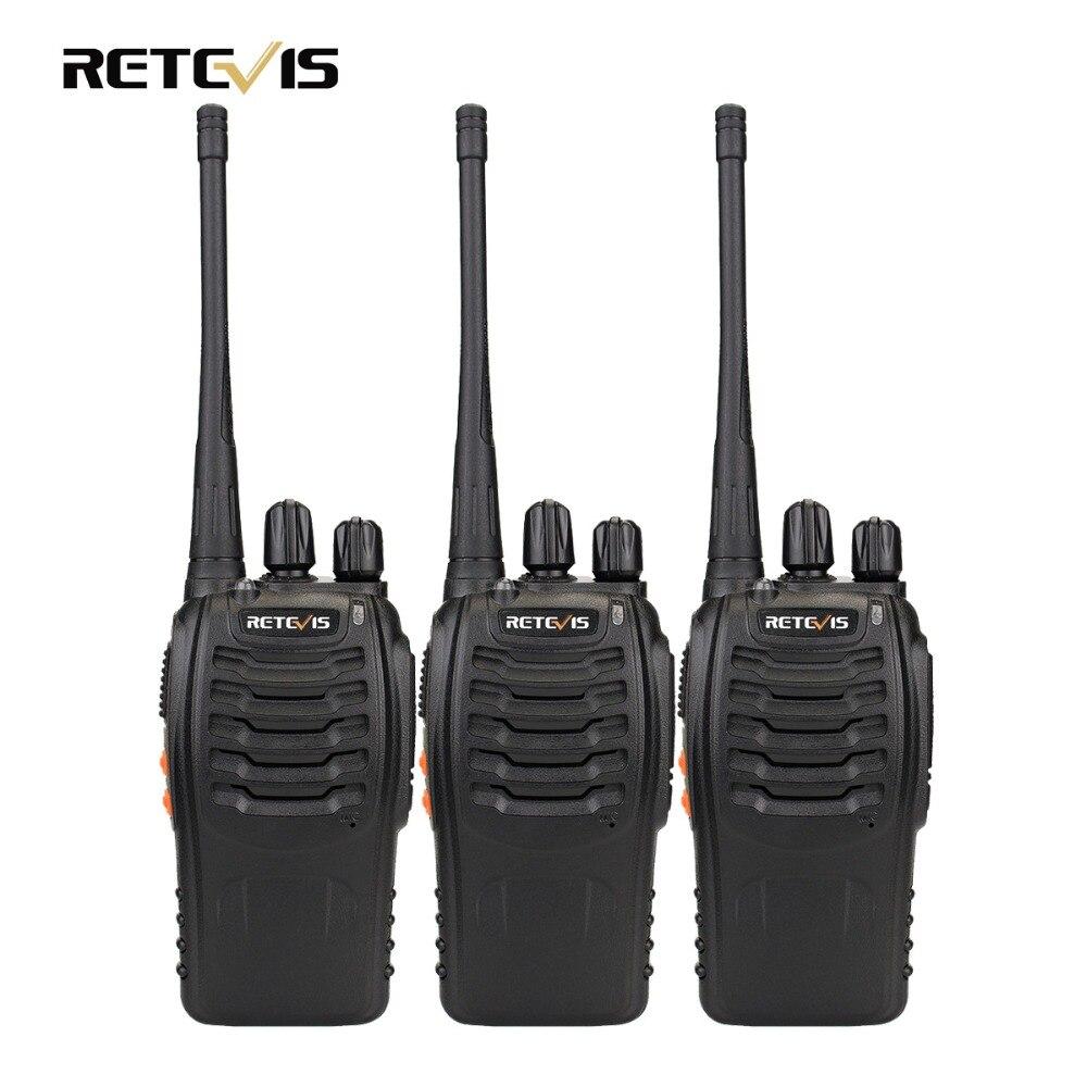 3 stücke Walkie Talkie Retevis H777 16CH UHF 400-470 MHz Amateurfunk HF-Transceiver 2 Funkgeräte Communicator handliche A9104
