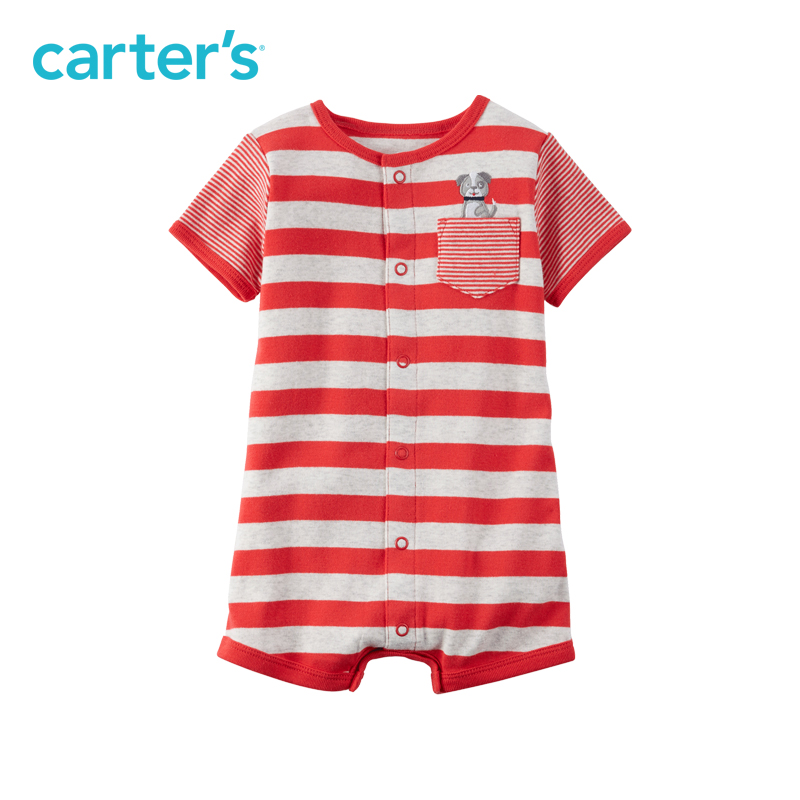 Carter's 1pcs baby children kids Snap-Up Cotton Romper 118H075,sold by Carter's China official store carter s 6pcs baby children kids 6 pack socks gb12311 sold by carter s china official store
