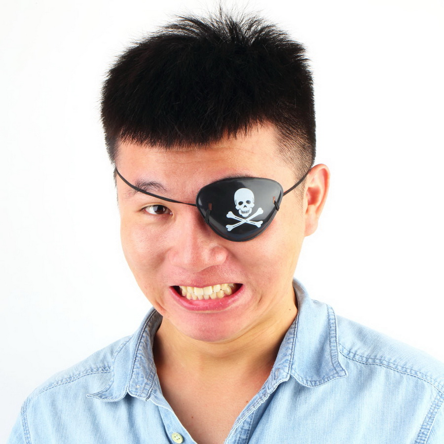 1PC 2017 New Arrival Pirate Eye Patch Skull Crossbone Halloween Party Favor Bag Costume Kids Toy Craft Gifts Free Shipping