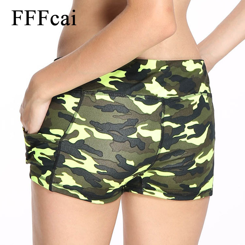 3fb4c3fa33cc2 FFFcai Women Sport Fitness Yoga Shorts Women Athletic Shorts Cool Ladies Sport  Camouflage Running Yoga Short Fitness Clothes-in Yoga Shorts from Sports ...