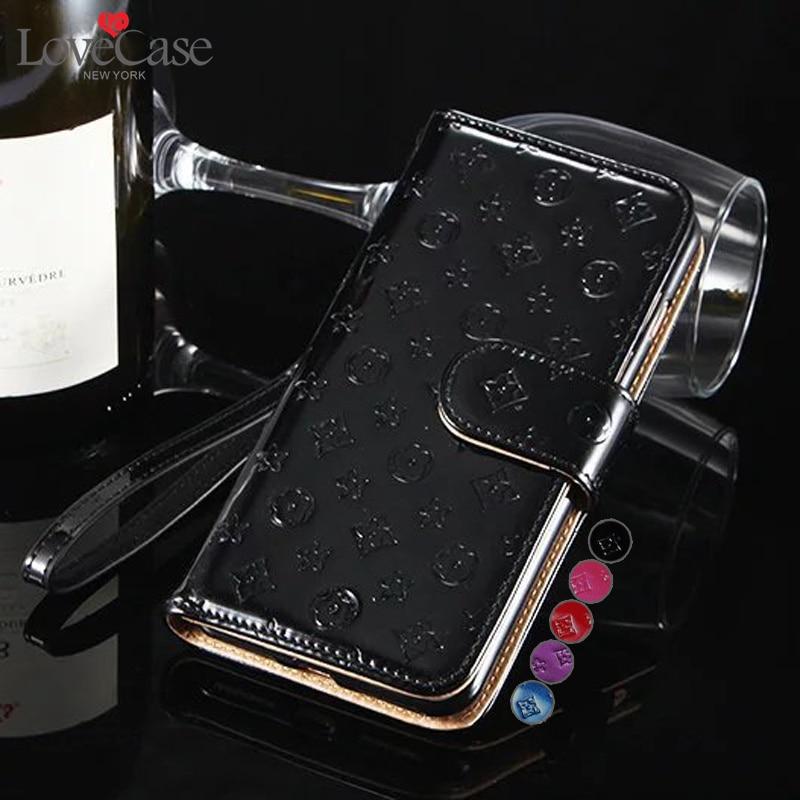 imágenes para 6 S 7 más Brillante Superficie Funda Cartera de Cuero para Apple iPhone 6 6 S Más 7 Más bolso del teléfono folio Tirón de la manera del cuero de patente cubierta