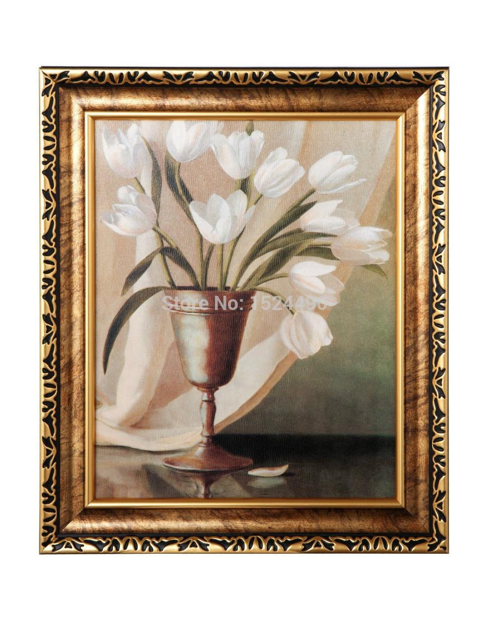 ᐂ100% pintado a mano flores pinturas al óleo sobre lienzo ...