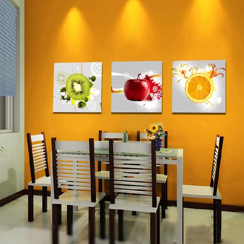 Aliexpresscom buy canvas art kitchen wall art fruit for Best brand of paint for kitchen cabinets with cheap contemporary wall art
