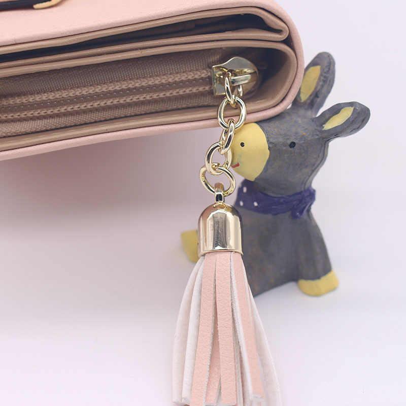 2019 корейский милый кот аниме кожаный тройной бумажник тонкий мини-кошелек женский маленький клатч женский кошелек для монет и карт держатель доллар клатч