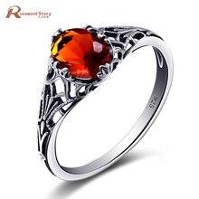 Anillos de plata de ley 925 hechos a mano para mujer, Spinner, piedra marrón, ámbar, joyería de boda, anillos personalizados al por mayor