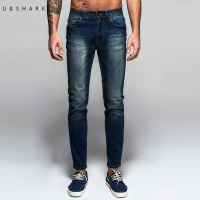 U Shark Autumn New Italy Classic Blue Denim Pants Men Slim Fit Brand Trousers Male 2016