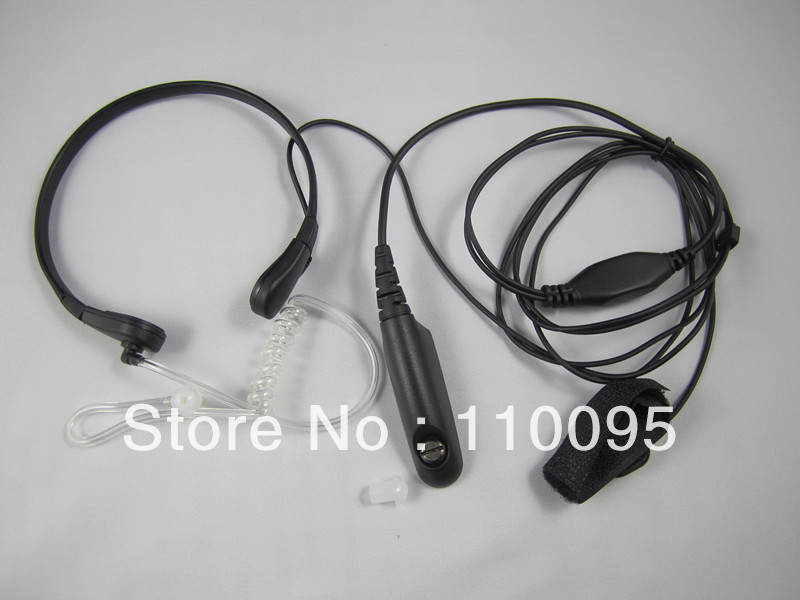 Throat Mic Earpiece Headset for Motorola GP328 340 GP 338 PTX760 Walkie talkie