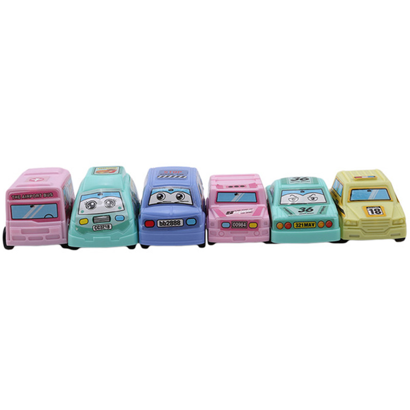 6Pcs Attractive Pull Back Car Toys Taxi Model Mini Cars Race Car Fun Funny Gadgets Novelty Interesting Toys For Children Birth in Diecasts Toy Vehicles from Toys Hobbies