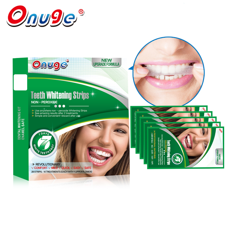 Onuge 3D New Dental Whitening System 20 Pouches font b Teeth b font Whitening Strips Gel