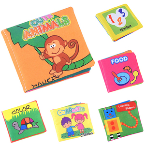 Fashion Infant Baby Children Kids Intelligence Development Cloth Book Cognize Book Toys  7KJC