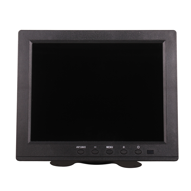8 Inch Car Tuck Home DC 12V TFT-LCD Multi Plug Monitor VGA BNC RCA USB 1024x768 HD for PC Computer Security Camera Manufacture 8 inch lcd monitor color screen bnc tv av vga hd remote control for pc cctv computer game security