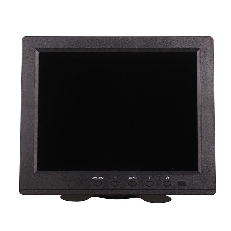 8 pouces DC 12 V TFT-LCD Multi prise moniteur HDMI VGA BNC RCA USB 1024x768 HD pour voiture Tuck maison CCTV PC ordinateur caméra de sécurité