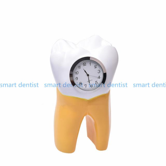 Relógio resina artesanato do Dente Dental Dentista Dental clinic Presente Resina Artesanato artigos de decoração Criativas Obras de Arte
