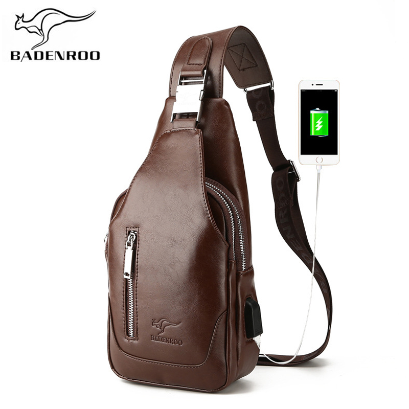 Badenroo Male bag Fashion Leather Crossbody Chest Bags Men Casual Messenger  Bags Handbags Brand Designer Portable Shoulder Bags-in Waist Packs from  Luggage ... 978b4d05cdf87