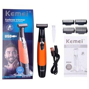 Image 5 - Kemei mens electric shaver body face electric razor for men stubble trimmer beard shaving edge trimer head trimmer back