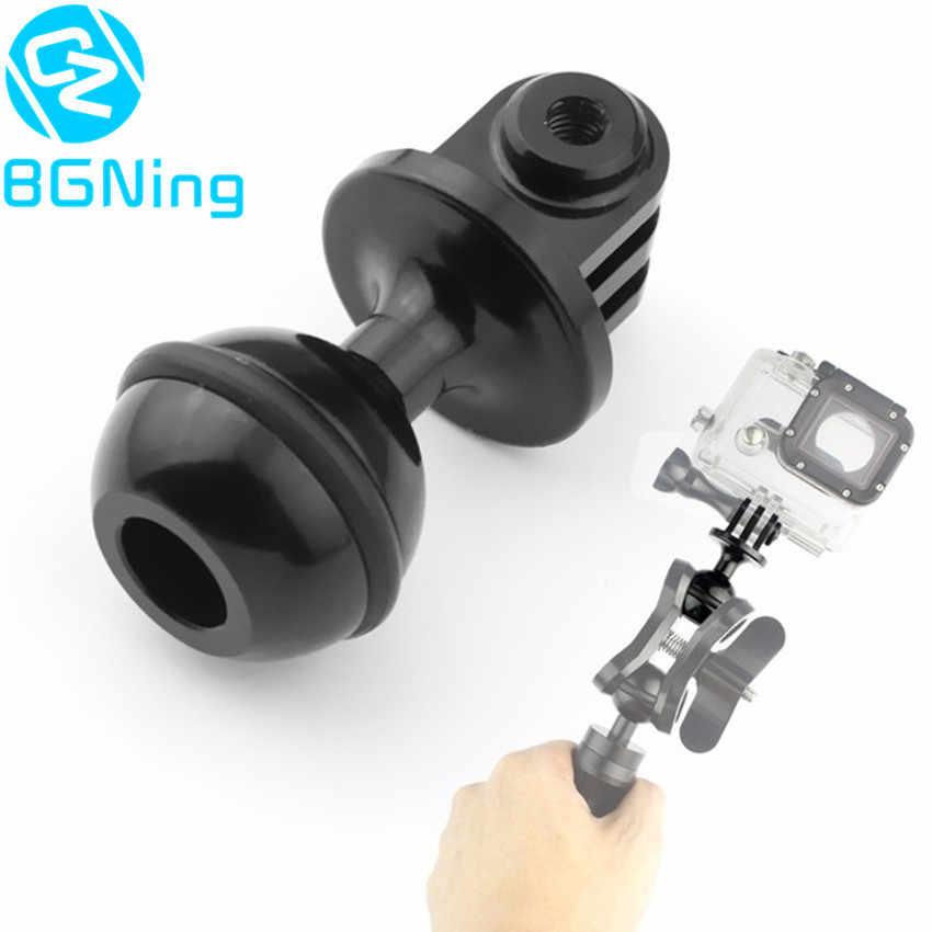 CNC 360 degrés Rotation rotule trépied support 2.5 CM cardan stabilisateur support pour Gopro Hero 5 4 Yi SJCam GitUp caméras d'action