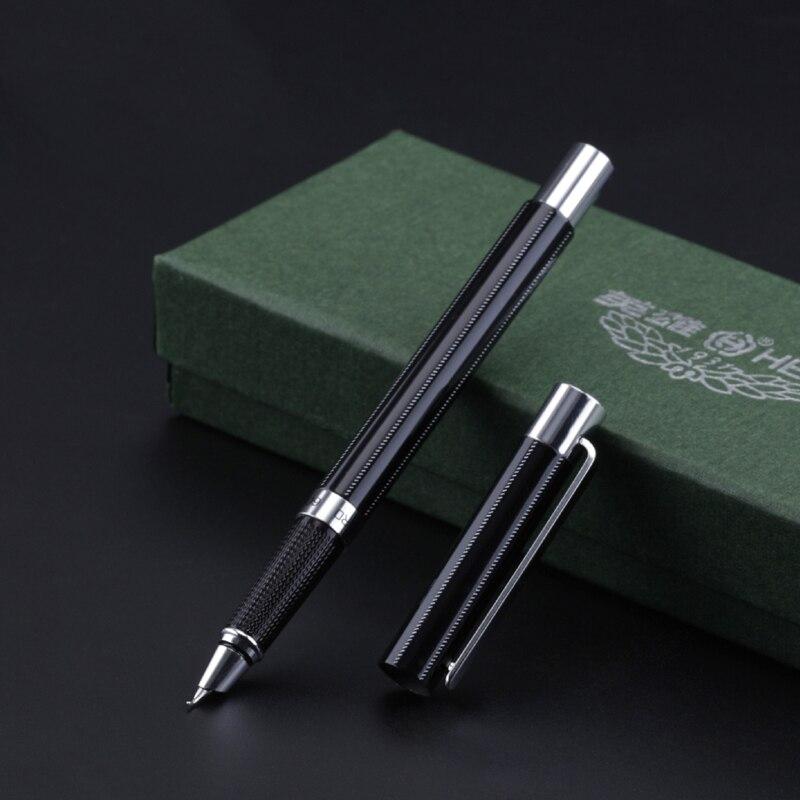 1pc High Quality Fountain Pen 0.38mm Hooded Nib Extra Fine Financial Pens 0.8mm Bent Nib Art Calligraphy Pens Business Gift цена