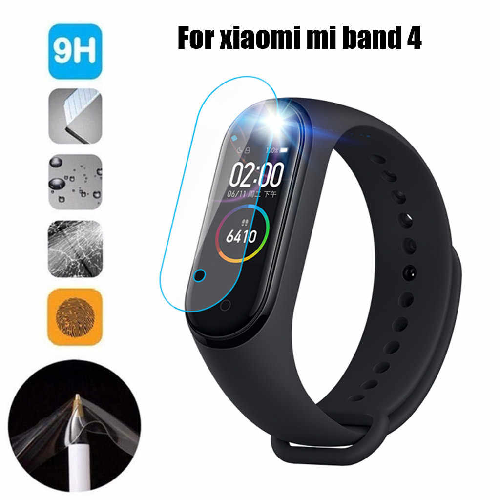 3 pcs Screen films For Xiaomi Mi Band 4 Tempered  With Hole Screen Protector Screen Water Condensate Film HD 612+