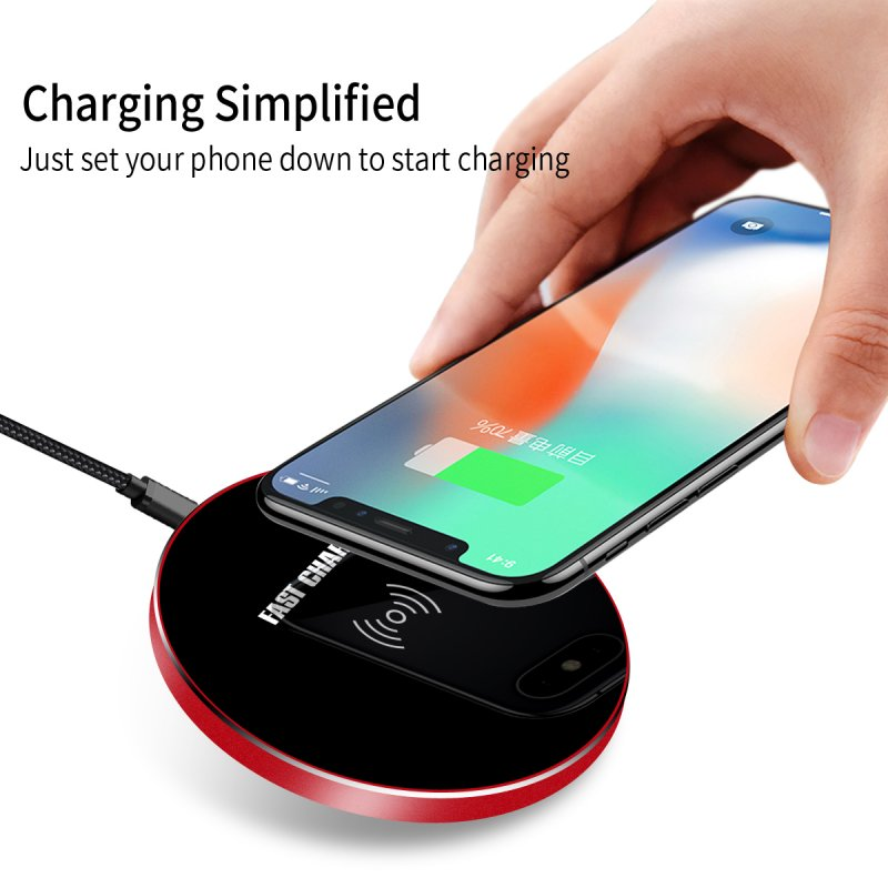 For Doogee S60 Wireless Charger Quick Charge Mirror Glass Qi Charging Pad For Doogee S60 Dock Case Mini Mobile Phone Accessory