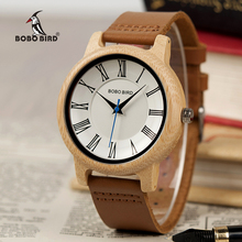 BOBO BIRD Q15 Classic Leather Wood Watch Couples Quartz watc