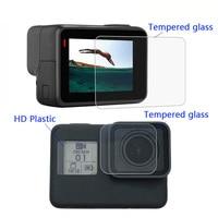 Новое защитное покрытие из закаленного стекла чехол для Go Pro Gopro Hero 5 6 7 8 Hero8/7 Blcak крышка объектива камеры ЖК-экран Защитная пленка 1