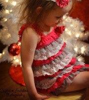 عيد الطفل فتاة الرباط بيتي فساتين الأحمر رمادي أبيض لينة الرباط فساتين الوليد فتاة عادية اللباس عيد/حزب اللباس
